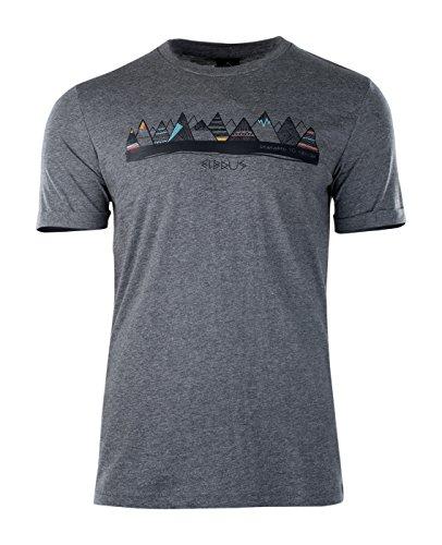 Elbrus Herren Berge T-Shirt Dark Grey Melange