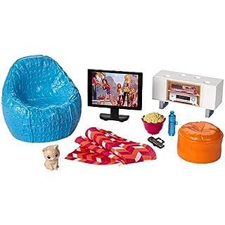 Barbie Mattel DVX46 - Inneneinrichtung: Fernsehecke und Sessel, Ankleidepuppen-Zubehör