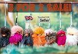 2 achetés 1 offert Furry Friends petits poussins en fourrure pour porte Random half colour mixes, Small 4-5cm
