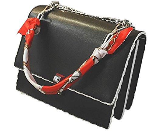 HandBagCrave - Borsa a tracolla donna Black