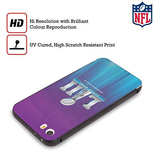 Ufficiale NFL Modelle 2 2018 Super Bowl LII Nero Cover Contorno con Bumper in Alluminio per Apple iPhone 5 / 5s / SE Lo Splendore Delle Luci Del Nord 2