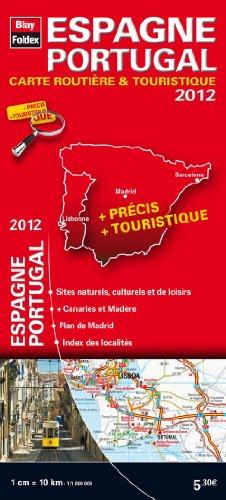 Espagne, Portugal - Carte routière et touristique - Echelle : 1/1 000 000 - Edition 2012 par Blay-Foldex