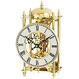 AMS Tischuhr Messing mechanisch 14-Tage Schlagwerk auf Glocke Stiluhr Stil Uhr