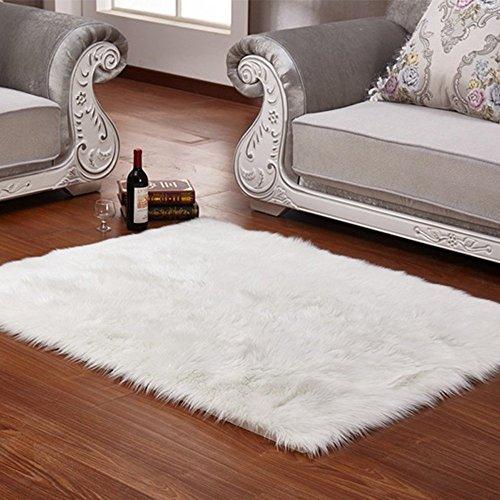 Pelliccia finta morbido tappeto soffice shaggy rugs tappeti pavimento tappeto per soggiorno e camera dei bambini camere decorazione 60x 90cm white