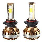 Lampe Auto, ourmall 2PCS 9005DV 12V120W 6000K 12000lm COB LED Weiß Leuchtmittel Lampe KFZ-, gold