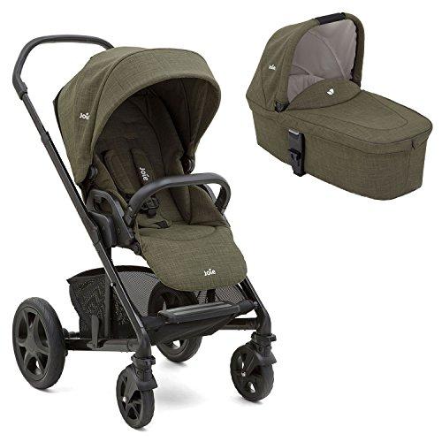 Joie Chrome Kombikinderwagen 2in1 Set Inklusive Babywanne (Thyme)
