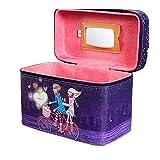 Sjidasj9 Box Cosmetici Viaggio for Una varietà di Piccole Cose di stoccaggio Borse cosmetiche Viola con Cerniera e Specchio cosmetico Make-up di Bellezza