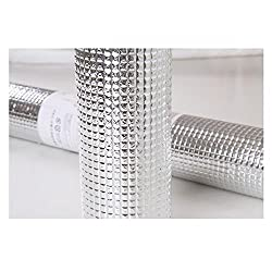 Totam1 Pc Multipurpose Easy to Cut Cupboard Shelf Drawer Aluminum Sheet Roll Size: 45 x 200 cm.