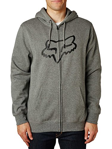 Fox Fleece Zip-Hoody Legacy Fox Head Schwarz Heather Graphite