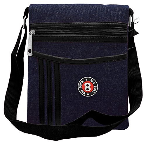 Tap Fashion Black Denim Sling Side Bag Cross Body Multi Pocket Purse for Women & Girls  available at amazon for Rs.349
