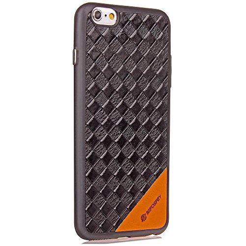 EKINHUI Case Cover Voller Körper-schützender Fall-weicher TPU Silikon-spinnende Art-Muster-Abdeckung Antishock-rückseitige Abdeckungs-Shell für iPhone 6 u. 6s ( Color : Brown ) Black