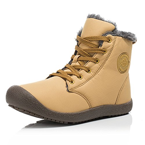 FLARUT Botas de Nieve Botines Calientes Zapatos de Invierno Zapatos Calor Exterior de Invierno Cálida Moda Ocio para Hombres y Mujeres( Amarillo 39)