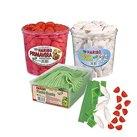 Haribo public viewing Em Football Paquet, Italie SQUADRA Azzura Set, Fan et le drapeau montrer, Forza Italia, vert blanc rouge, Coupe