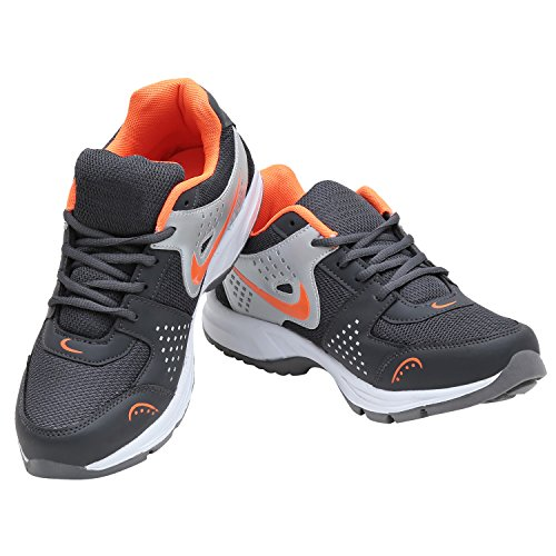 Calaso Men's Running Sport Shoes (Aero-Nike-Silver-Orange-29_6)  available at amazon for Rs.599