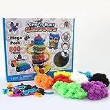Giocattoli magici 800pcs dei giocattoli di gioco del giocattolo di bambù di DIY del giocattolo di esplorazione del giocattolo dei giocattoli del bambino di Squish del giocattolo di compleanno o regalo di Natale Squish, connettere e creare con il Thor...