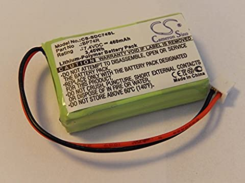 vhbw Li-Polymer Akku 460mAh (7.4V) für Hundehalsband, Ferntrainer Dogtra 2302-NCP Advance, 2302NCP Receiver, 2500B Receiver wie BP74R.