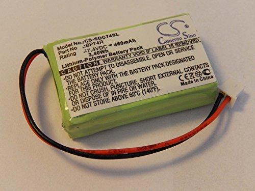vhbw Li-Polimeri Batteria 460mAh (7.4V) per Heehalsband, Ferntrainer Dogtra 2300-NCP Advance, 2300NCP Receiver, 2300RX Receiver come BP74R.