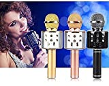 Weltime Wireless Bluetooth Microphone Recording Condenser Handheld Microphone with Bluetooth Speaker Audio Recording
