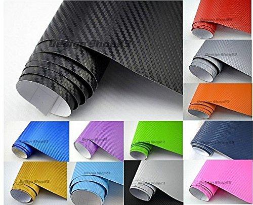NEOXXIM PREMIUM - Auto Folie - 3D Carbon Folie - SCHWARZ 30 x 150 cm - blasenfrei mit Luftkanälen ca. 0,16mm dick