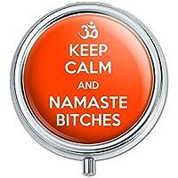 Keep Calm und Namaste Bitches Pille Fall Schmuckkästchen Geschenk-Box preisvergleich bei billige-tabletten.eu
