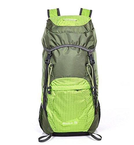 HCLHWYDHCLHWYD-Donna pelle pieghevole pacchetto ultraleggero portatile borsa trekking impermeabile di grande capienza del sacchetto di spalla Bag Man sport all'aria aperta , 4 2