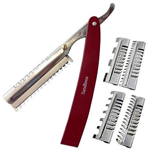 Sandbros professionelles Effiliermesser, Messer zum Schneiden, 4Stück, Friseure Herrenfriseure, +...
