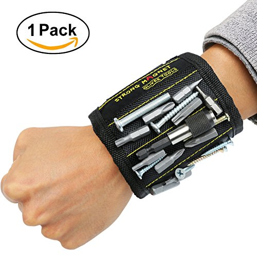 Magnetisches Armband,Qliver einstellbare Magneten Armbänder zum Halten von Werkzeugen, Schrauben, Nägel, Bohren Bits und Kleinwerkzeuge