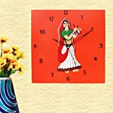 Kalaplanet Wooden Wall Clock - Dandiya