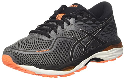 Asics Gel-Cumulus 19, Zapatillas de Gimnasia Hombre, Gris (Carbon/Black/Hot Orange), 39.5 EU