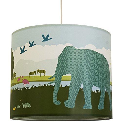 anna wand Lampenschirm HELLO AFRICA – Schirm für Kinder / Baby Lampe mit Tieren aus Afrika in versch. Farben – Sanftes Licht für Tisch-,...