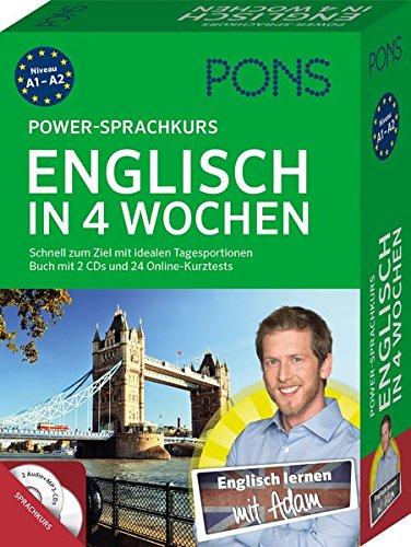 PONS Power-Sprachkurs Englisch in 4 Wochen: Schnell zum Ziel mit idealen Tagesportionen. Buch mit 2 CDs und 24 Online-Kurztests (4 Ziele)