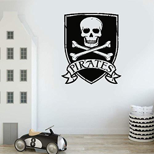 wandaufkleber 3d Wandtattoo Wohnzimmer Piraten-Zeichen-Flaggen-Aufkleber für Wohnzimmer-Ausgangsaufkleber-Halloween-Schlafzimmer