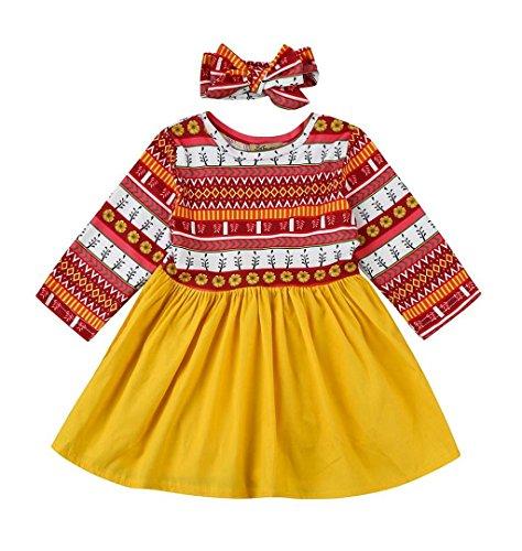 Mädchen Kleid Weihnachtsmann Verkleidung 1950er Vintage Retro,ZEZKT 2017 Geschenke für Weihnachten Mädchen Herrlich Parteikleidung (6 Monate -70, Mehrfarbig)