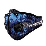 GUKOO Masque de Sport Protection Respiratoire Masque Filtre à air de polluants, Masque Anti-Pollution Anti-Vent Anti-poussière Vélo Sport Moto Cyclisme Activités en Plein Air