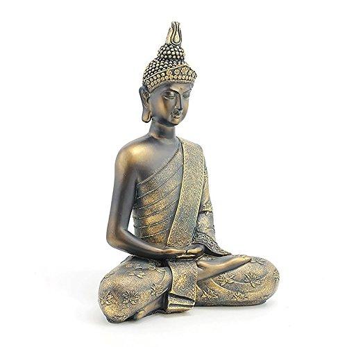 stunning large burnt bronze effect sitting thai buddha statue new u0026 boxed 40cm