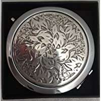 High quality, Pewter, Flowers, Double Mirror Compact Case by Edwin Blyde, Manufacturers of the Finest Quality Pewterware. An ideal Christmas gift. by Edwin Blyde