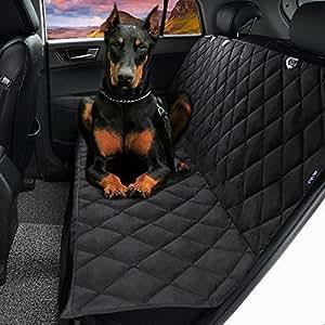 "Dog Seat Cover,EVELTEK Luxury X-Large 152x147cm /60""x58"" Backseat Nonslip Scratch-proof Waterproof& Abrasion Resistance Pet Dog Car Seat Cover & Hammock |Universal Fit in SUVs,Cars & Vehicles-Black"
