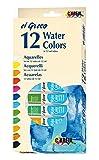 Kreul 26050 - EL Greco Aquarellfarben Set, 12 Farbtöne à 12 ml