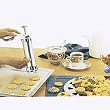 #7: Cpixen Sugar Craft Fondant Cake Cookie Press Kits Biscuit Maker Clay Extruder Gun Cake Decor Tools with 20 Discs