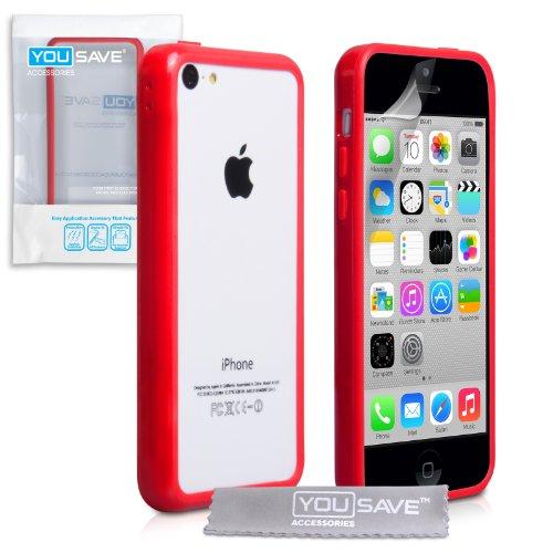 iphone-5c-tasche-rot-silikon-gel-stossstange-hulle
