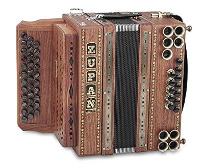 Zupan Eco 3/II Harmonika B-Es-As (Eco-Serie, 33 Diskantknöpfe, 3-reihig, 2-chörig, 12 Bassknöpfe (X-Bass), 5 Helikonbässe, Gewicht: 5,4 kg) Nuss