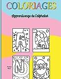 Coloriage: apprentissage de l'alphabet, dessins sur papier blanc...