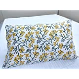 """Holi Special Sale ! Linenwalas 100% Soft Cotton Green,Yellow Leaf Print - Standard Size - Printed Pillow Covers - Set Of 2 - 17""""x27"""""""