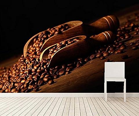 LWCX Benutzerdefinierte Wandbild Kaffee Tal Essen Tapeten Coffee Shop Restaurant Restaurant Wohnzimmer Sofa Tv Wand Küche 3D Wallpaper400X280CM