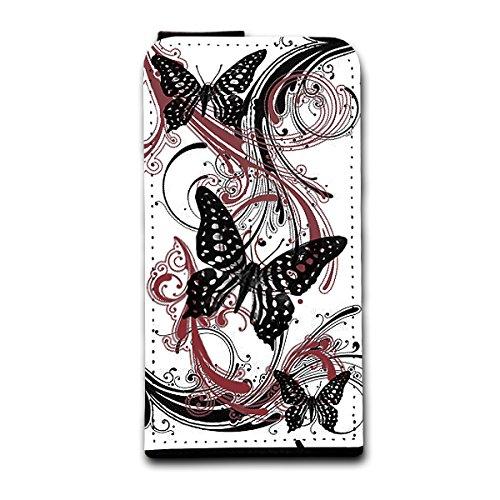 Flip Style vertikal Handy Tasche Case Schutz Hülle Foto Schale Motiv Etui für Apple iPhone 4 / 4S - V4 Design8 Design 5