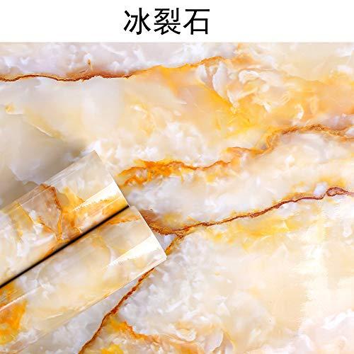 Tapete selbstklebend schlafzimmer wohnzimmer marmor hintergrundbild F8051 ice cracked stone 60CM