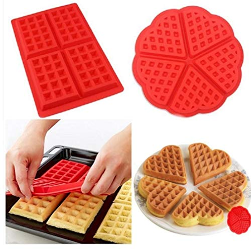 PiniceCore runden Waffeln Cookie-Silikon-Form-Schokoladenform Mikrowelle Silikonmatte Kochen Backen Gebäck Werkzeuge Zubehör für die Küche - Waffel Silikon-form
