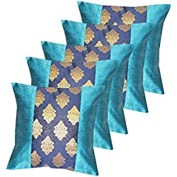 "Durable Dopian silk Decorative jacquardPlain colour Square Throw Pillow Cushion Cover Cushion Case Sofa Chair Seat Pillowcase 16 "" x 16""(40cm x40 cm)Set Of 5 pcs"