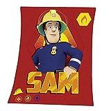 Whitehouse Sam | Decke Fleece | 130 x 160 cm | Feuerwehrmann Sam | Kinder Kuscheldecke
