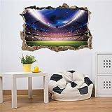 TWBB Wandaufkleber 3D realistisch Fußball Feld wall sticker Zuhause Essen Zimmer dekorativTapete (Mehrfarbig-2)